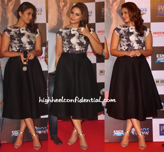 Huma Qureshi Wears Dhruv Kapoor To 'Badlapur' Trailer Launch-1