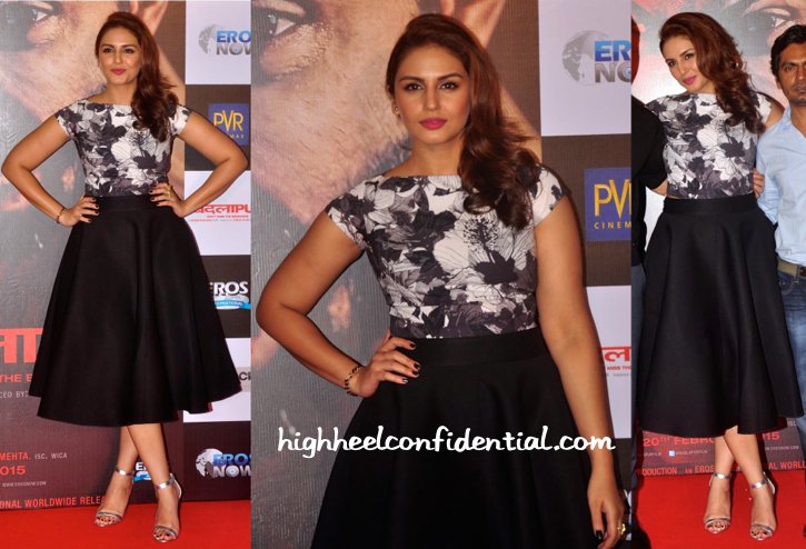 Huma Qureshi Wears Dhruv Kapoor To 'Badlapur' Trailer Launch-2