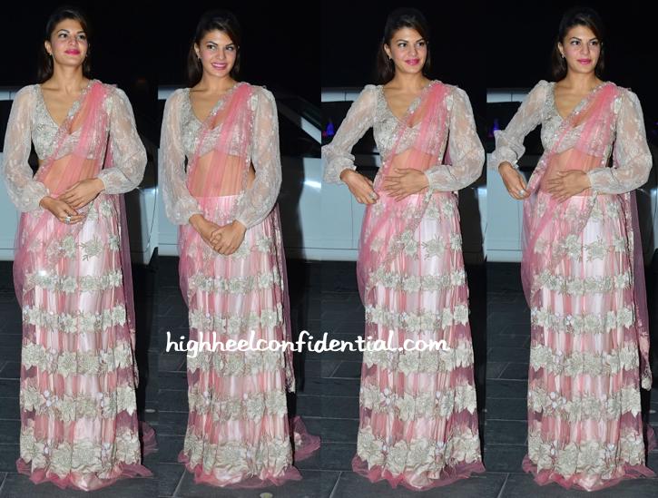 Jacqueline Fernandez At Shirin Morani-Uday Singh Wedding Reception-1