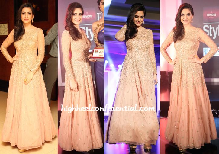 Kriti Kharbanda In Astha Narang At Femina Style Diva 2014-1