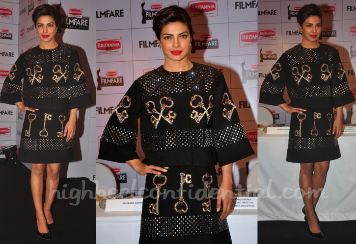 Priyanka Chopra In Dolce & Gabbana At Filmfare Awards Press Meet-1