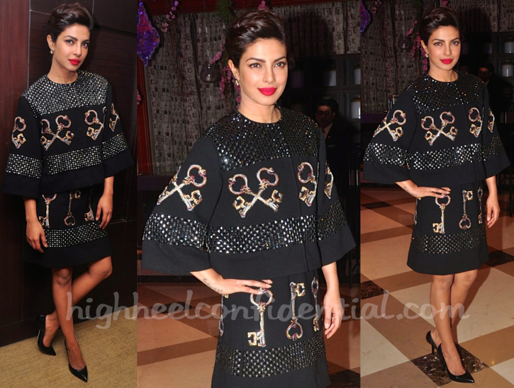 Priyanka Chopra In Dolce & Gabbana At Filmfare Awards Press Meet-2