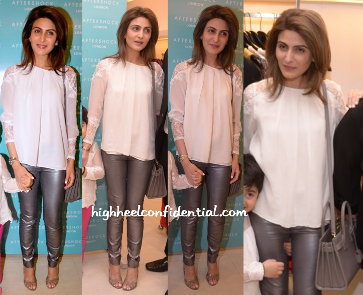 Riddhima Kapoor Sahani In Alice + Olivia And Saint Laurent At After Shock Launch