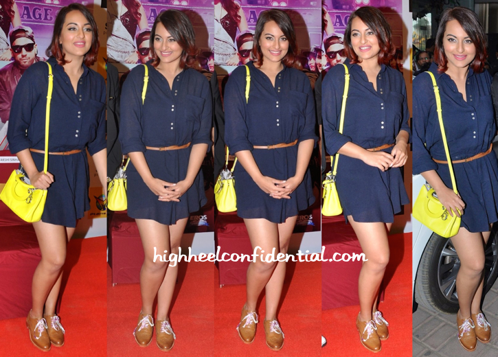 Sonakshi Sinha In Zara And Dior At Tevar Promotions