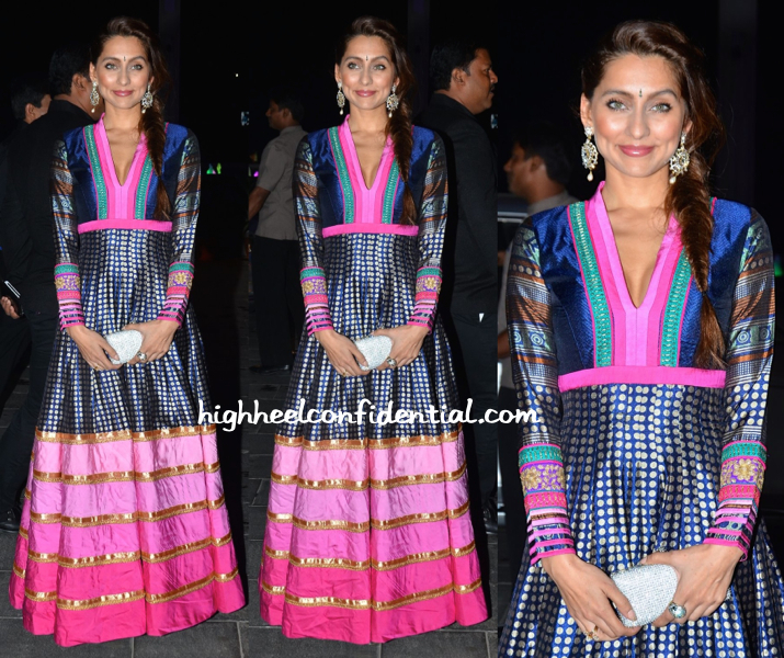 anusha dandekar at shirin morani uday singh wedding reception