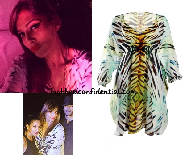bipasha-basu-goa-nye-turquoise-gold-dress-stripes