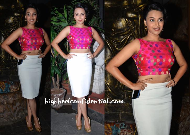 swara bhaskar at richa chadha birthday bash