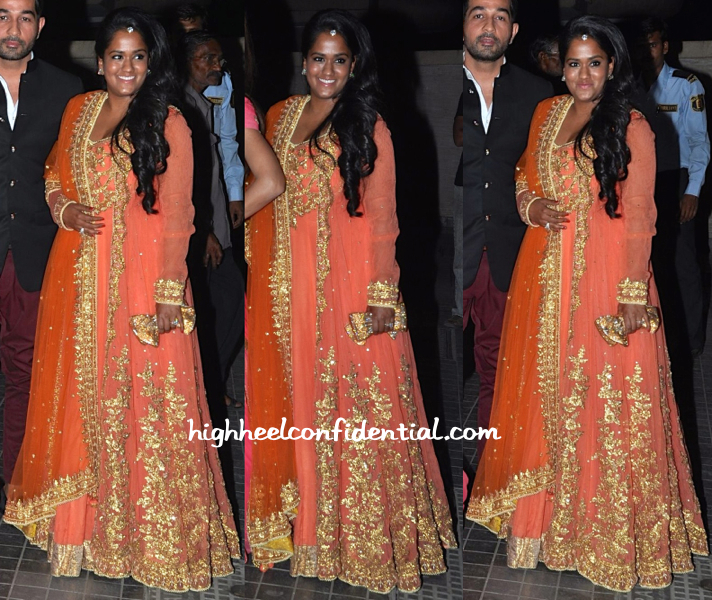 Arpita Khan At Soha Ali Khan And Kunal Khemu's Wedding Reception