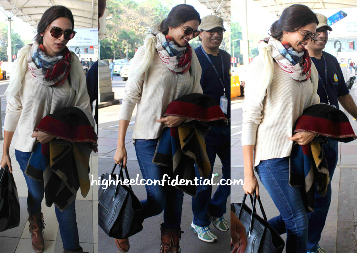 Deepika Padukone Photographed At The Airport-1