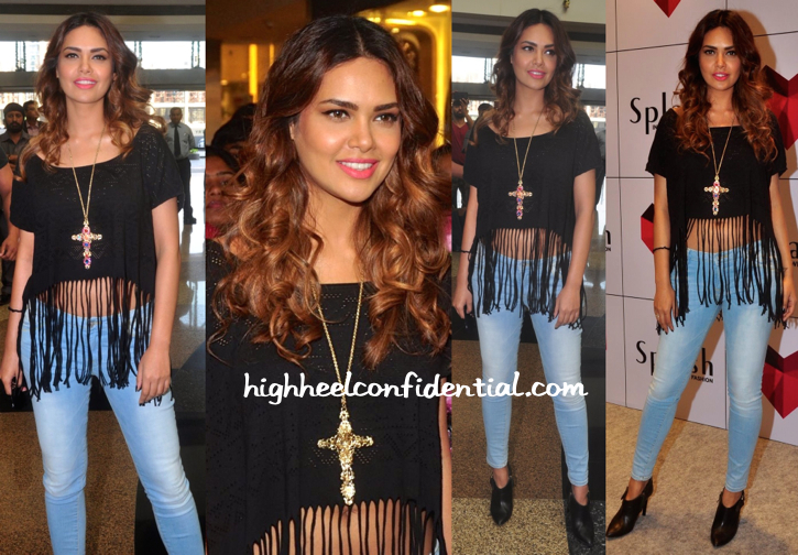 Esha Gupta In Splash And Burberry At Splash Store Launch-1