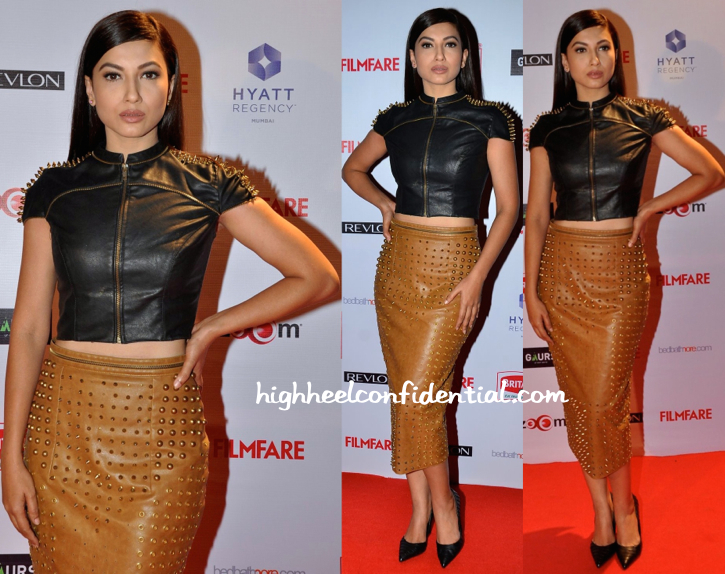 Gauahar Khan In Armaan Aiman At Filmfare Pre-Awards Party 2015