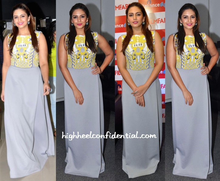 Huma Qureshi Wears Pankaj & Nidhi To Filmfare Calendar Launch-1