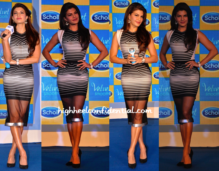 Jacqueline Fernandez In Amit Aggarwal At Scholls Event-1