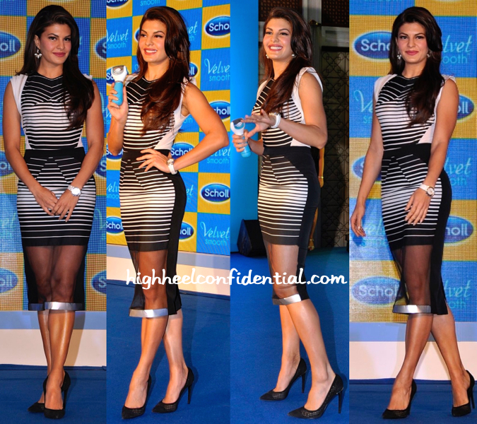 Jacqueline Fernandez In Amit Aggarwal At Scholls Event-2