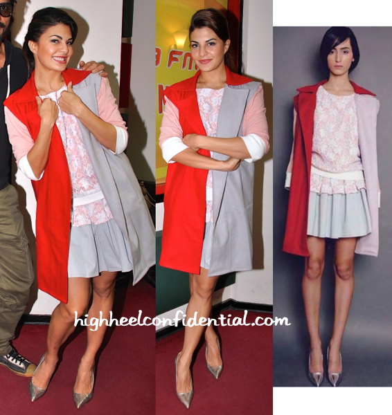 Jacqueline Fernandez Wears Cameron Kham To Radio Mirchi For Roy Promotions-1