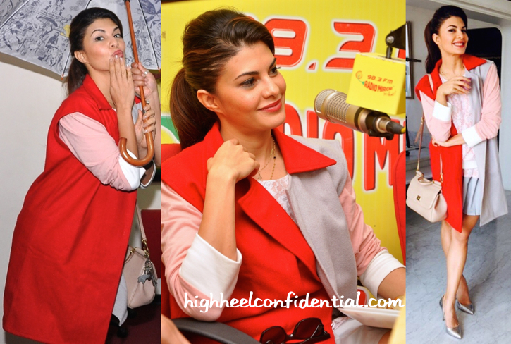 Jacqueline Fernandez Wears Cameron Kham To Radio Mirchi For Roy Promotions-2