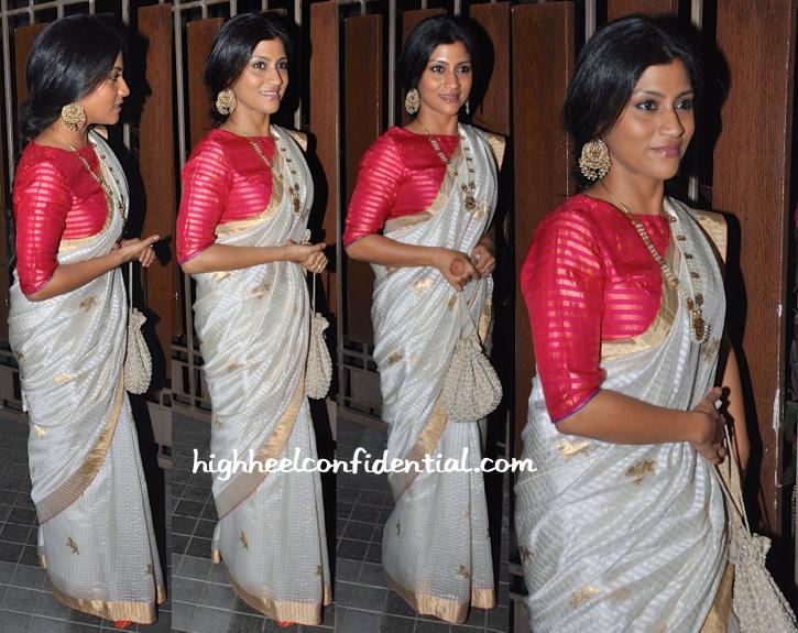 Konkona Sen Sharma In Raw Mango At Soha Ali Khan And Kunal Khemu's Wedding Reception