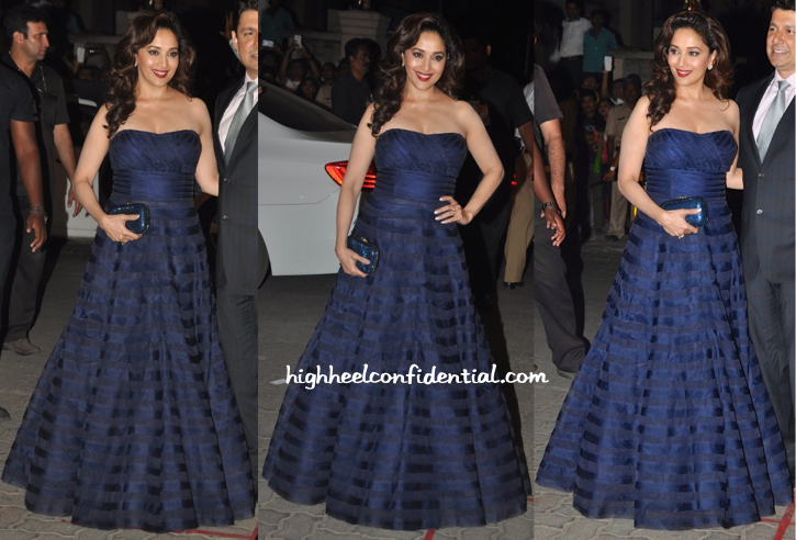 Madhuri Dixit In Jade At Filmfare Awards 2015-2
