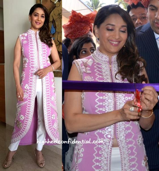 Madhuri Dixit Nene launches P. N. Gadgil Jewellers Showroom-pankaj and nidhi-1