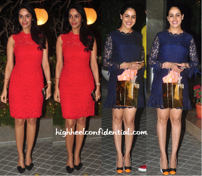 Mallika Sherawat And Genelia D'Souza At Farah Khan's 50th Birthday Bash-1