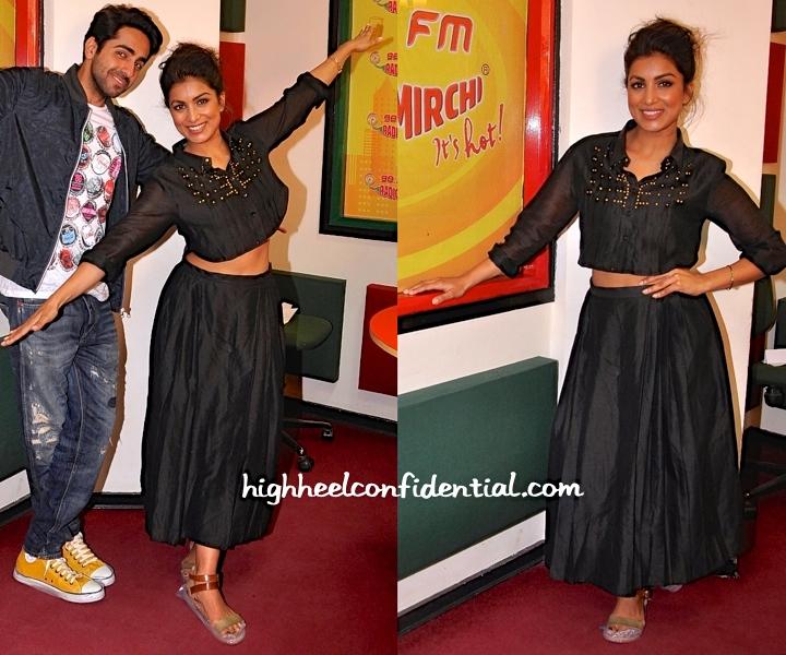 Pallavi Sharda Wears Armaan Aiman To Radio Mirchi For Hawaizaada Promotions