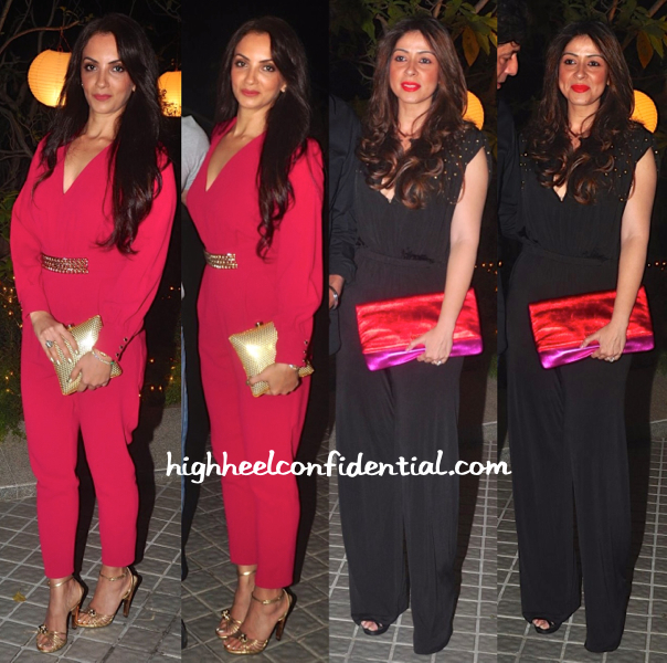 Seema Khan And Bhavna Pandey At Farah Khan's 50th Birthday Bash