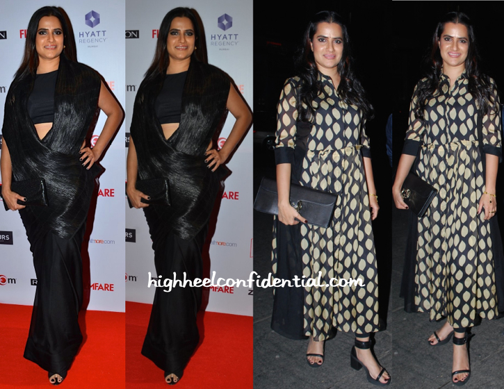 Sona Mohapatra (In My Village By Rimzim Dadu) At Filmfare Pre-Awards Do And (In Myoho) At Richa Chadha's Birthday Do