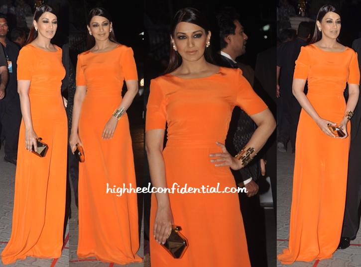 Sonali Bendre in Saloni, Isharya, Dior & Kotur at Filmfare Awards 2015
