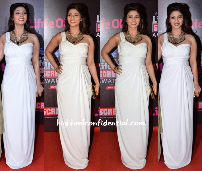 Tanishaa Mukerjee In Amy Billimoria At Screen Awards 2015