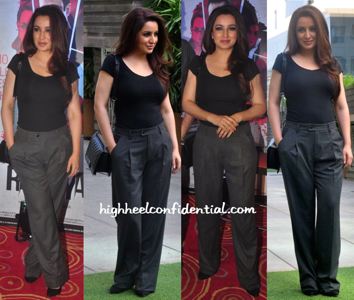 Tisca Chopra Totes A Chanel 'Boy' To A Press Meet For Rahasya