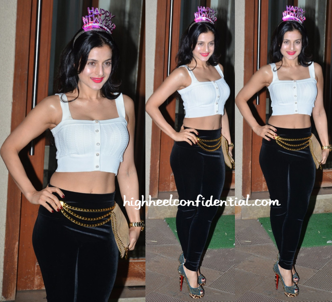 ameesha patel at nye 2014-2014 bash