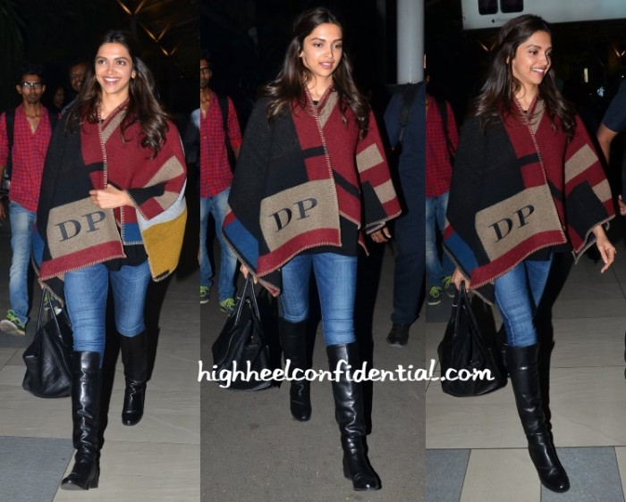 deepika-airport-burberry-monogrammed-shawl