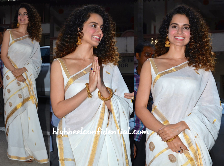 kangana ranaut at ramakrishna mission-1