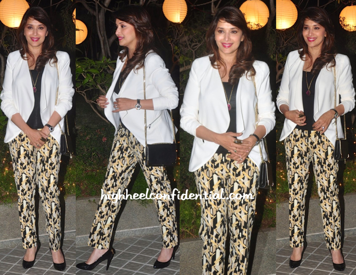 madhuri dixit At Farah Khan's 50th Birthday Bash