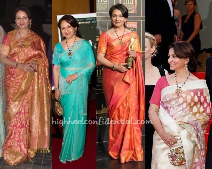 sharmila-tagore-sari-beads-necklace-soha-reception