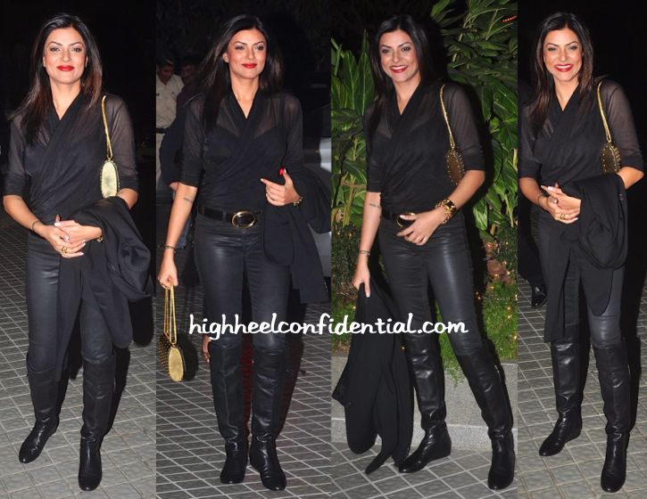 susmita sen At Farah Khan's 50th Birthday Bash