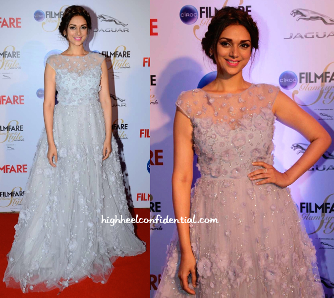 Aditi Rao Hydari In Hema Kaul At Filmfare Glamour And Style Awards 2015 -1