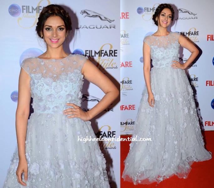 Aditi Rao Hydari In Hema Kaul At Filmfare Glamour And Style Awards 2015 -2