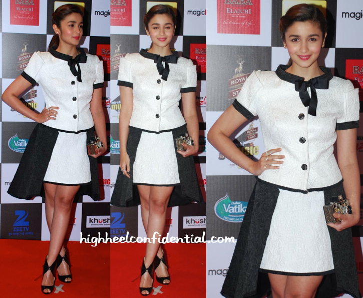 Alia Bhatt In Isabel Sanchis At Mirchi Music Awards 2015-2