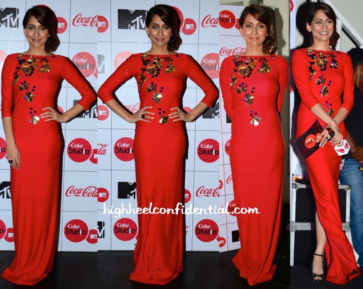 Anusha Dandekar In Harsh Harsh At Coke Studio Press Meet-1