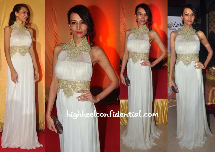 Dipannita Sharma In Rabani & Rakha At Luster Cosmetics Launch