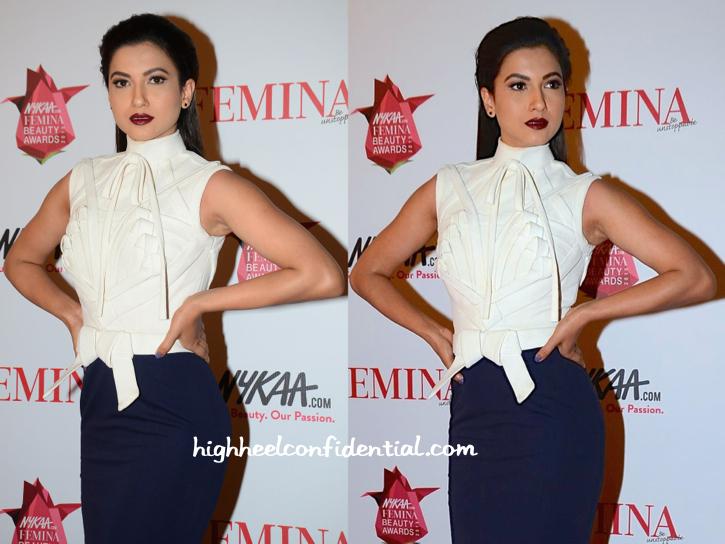 Gauahar Khan In Alpana And Neeraj At Femina Beauty Awards 2015-2