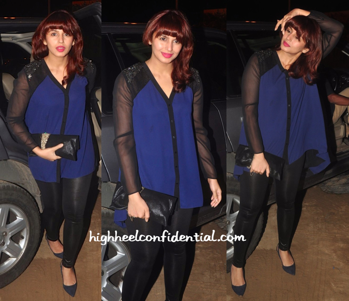 Huma Qureshi In Rohit Gandhi + Rahul Khanna At 'Queen' Success Bash