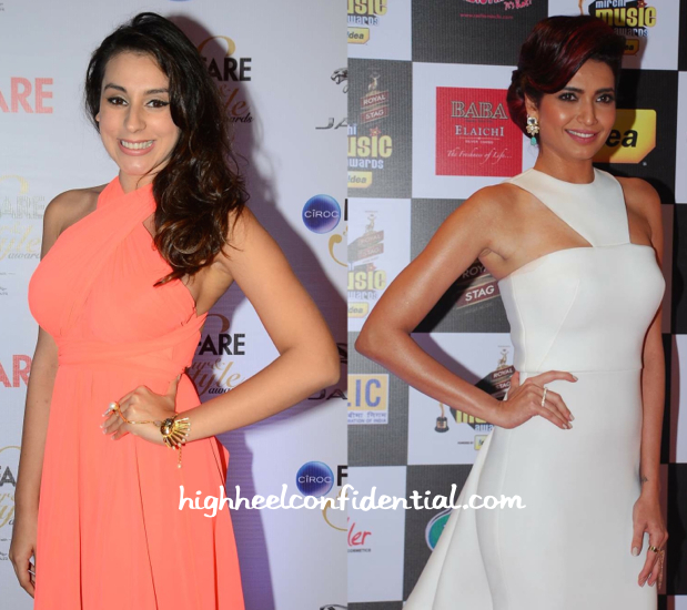 In Gauri And Nainika- Anindita Nayar At Filmfare Glamour And Style Awards 2015 And Karishma Tanna At Mirchi Music Awards 2015-1