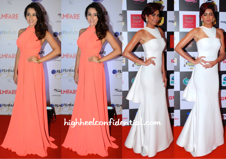In Gauri And Nainika-Anindita Nayar At Filmfare Glamour And Style Awards 2015 And Karishma Tanna At Mirchi Music Awards 2015