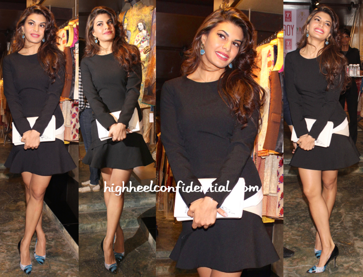 Jacqueline Fernandez In Kanika Goyal At Roy Promotions-1