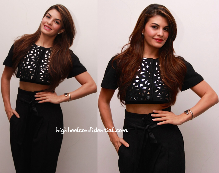 Jacqueline Fernandez In Rajesh Pratap Singh At Roy Promotions-1