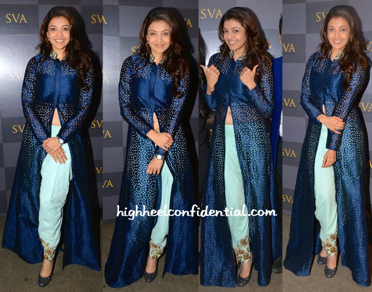 Kajal Aggarwal At SVA By Sonam & Paras Modi's 'Istanblu' Collection Preview