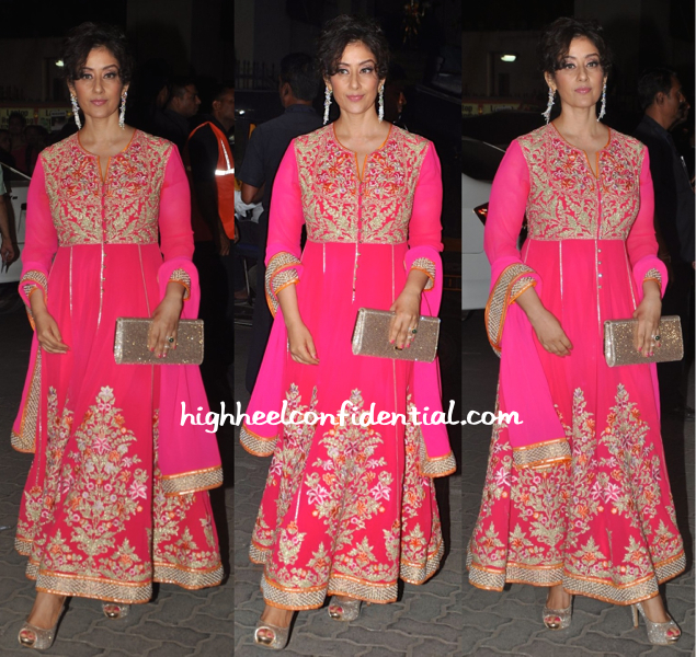 Manisha Koirala In Abu Sandeep At Filmfare Awards 2015