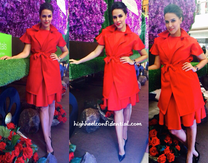 Neha Dhupia In Cameron Kham At Ferns N Petals Launch In Delhi